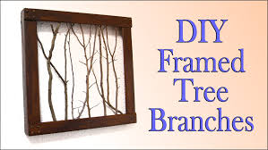 wall decorating idea diy framed tree branches you