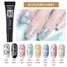 Moly Resin Color Chart Nail Art Stamping Kit Mysweety 8pcs 8ml Stamping Gel Black White Pink Soak Off Nail Art Uv Gel Polish With Nail Stamp Plate