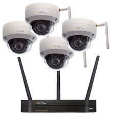 4-Channel Wi-Fi Security System with 4 3MP Dome Network Video Recorder | Cameras Q-See