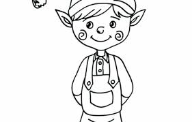 Free Printable Christmas Elf Coloring Pages Raovat24hinfo