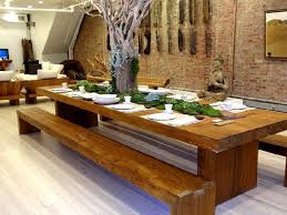Dining Room Tables With A Bench Impressive Decoration