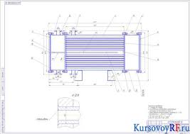 Курсовой проект теплообменника для производства сливок из цельного  Чертеж сборочный теплообменника