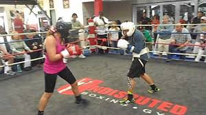 carina moreno marlen esparza sparring at undisputed boxing gym