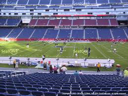 gillette stadium section 109 view