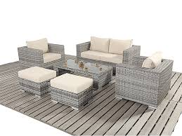 garden furniture set including coffee table