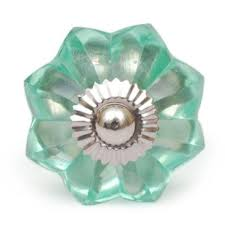 Low Glass Cabinet Potteryville Sea Foam Green Glass Flower Cabinet Knob Low Price