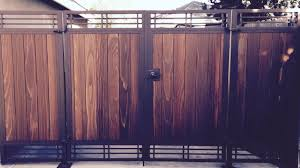 wood fence double gate. Double Gate With Side Panels And Cross Hatch Wood Fence