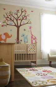 modern baby nursery furniture. Best Baby Nursery Furniture Feat Modern Tree And Animal Wall Decal Idea Plus Ball Pattern Area E