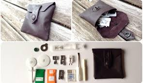 tutorial leather pouch from a jacket