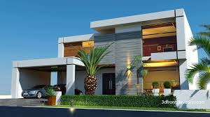 Chat Front Design 3d Front Elevation Com Beautiful Contemporary House