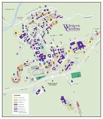 western carolina university  lot designation map