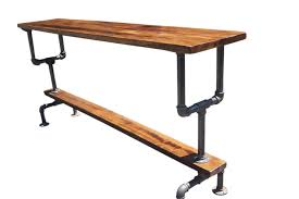 industrial style bar height table with
