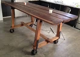 diy metal furniture. Vintage Table With Rubber Casters Diy Metal Furniture S