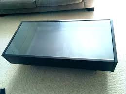 display top coffee table glass with storage for canada stor