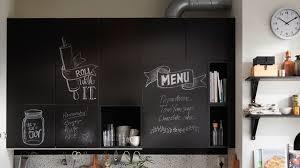 UDDEVALLA chalkboard surface kitchen door, black, write your own messages