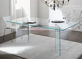 modern full glass desk. Tonelli Bacco Glass Dining Table Modern Full Desk N