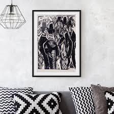 Bild Mit Rahmen Ernst Ludwig Kirchner Straßenszene Hochformat 43