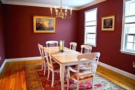 cozy dark red dining room feature modern sets terrific for your leather chairs with upholstered