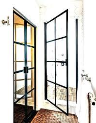 steel framed shower doors black astounding daze com home ideas 9 metal d