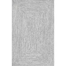 kulpmont hand braided gray area rug