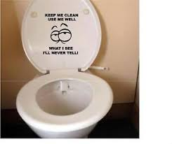 Image is loading FUNNY-TOILET-SEAT-VINYL-DECAL-STICKER-3-KEEP-