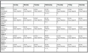 Server Schedule Template Monthly Schedule Excel Template Jsondb Me