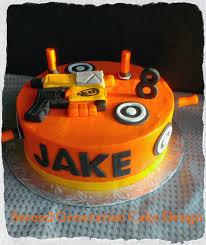Second Generation Cake Design Nerf Gun Birthday Cake
