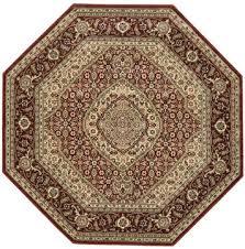 nourison persian arts brown octagon 5 3 x 5 3 area rug