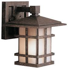 kichler cross creek arts and crafts mission outdoor wall within craftsman lighting fixtures design 8