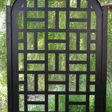 modern metal gate. Metal Gate Contemporary Pedestrian Walk Thru Entry Cut Art Modern Iron  Garden Modern Metal Gate N