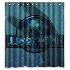 personalized bathroom accessories custom jurassic world fount dinasaur polyester waterproof shower curta