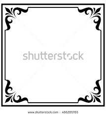 vintage frame border. Square Frame Border Beautiful Vector Vintage Isolated