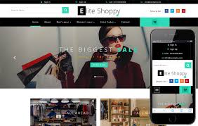 Ecommerce Website Template Mesmerizing Elite Shoppy An Ecommerce Category Bootstrap Responsive Web Template