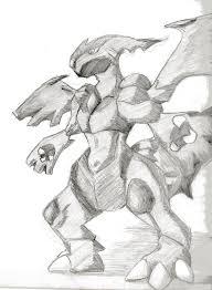 Disegno Da Colorare Pokemon Leggendario Zekrom Disegni Da Colorare