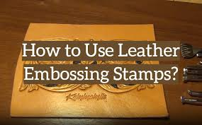 how to use leather embossing stamps