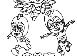 Pj Mask Coloring Pages Printable Coloring Book Sheets Bspokeme