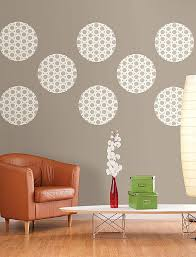 diy living room wall decor idea with polka dots