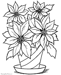 Small Picture Christmas flower printable coloring page coloring pages