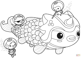 Small Picture The Octonauts Meet Dunkie coloring page Free Printable Coloring