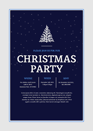 holiday templates examples lucidpress christmas holiday party invitation 5x7