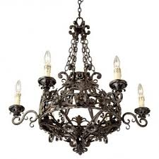 ingenious inspiration franklin iron works chandelier acanthus and crystal 68 wide bronze intended wish for 6