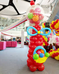 giant balloon gumball machine decoration