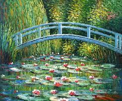 anese bridge oil painting supplies impressionism monet