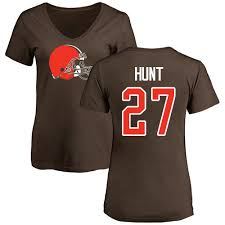 Hunt Name Cleveland amp; Brown 27 Number Logo Jersey Kareem Women's Nike Nfl T-shirt Browns|Four Reasons New England Will Beat The Steelers In Week 1