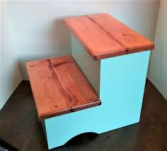 Wooden kitchen step stool Unfinished Wood Wooden Kitchen Helper Step Stool Midwest Wood Gallery Wooden Kitchen Helper Step Stool Midwest Wood Gallery