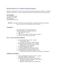 Objective For High School Resume With Nork Experience Example