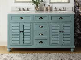 62 inch bathroom vanity coastal cottage beach style aqua blue color 62 wx22 dx36 h cgd21888bu