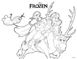 Olaf From Frozen Coloring Page Ana