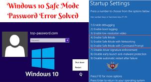 windows 10 safe mode windows 10 safe mode password incorrect solution 100 fixed