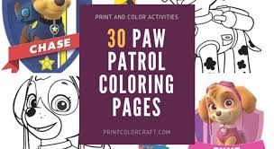 Ryder Coloring Pages Archives Print Color Craft